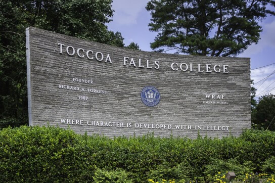 Toccoa Falls College - Bachelor's Sports Management Degree 2016